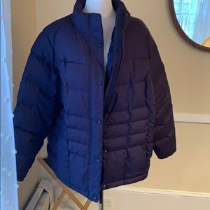 L.L. Bean 3x Women's Down Jacket in Navy and EUC